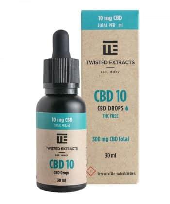 10 CBD Oil Tincture Drops | 300mg CBD | Twisted Extracts (Orange Flavour)